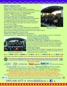 City of Slidell Cultural Affairs brochure page 2